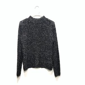 Only Pilo Mock Neck Lightweight Black Sweater